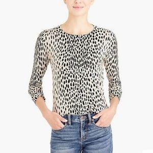 J. Crew Charley Cheetah Print Merino Sweater